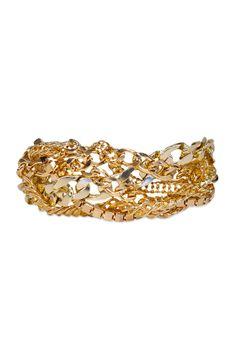 RJ Graziano Gold Chain Effect Bracelet