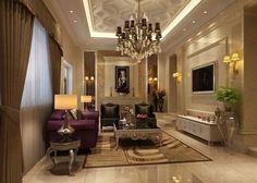 Wonderful decorations for Living room Luxury Interior, Room Interior, Home Interior Design, Dream Home Design, House Design, Living Room Designs, Living Spaces, Living Rooms, Furniture Decor