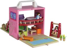 Designer girls gifts online - Tiger Tribe Boxset - Doll House - $59.95 - Innovative and unique Tiger Tribe Doll House boxset - simply open, build and play, making it the ultimate travel companion as well!  Makes the perfect gift! Designer girls gifts online - Tiger Tribe