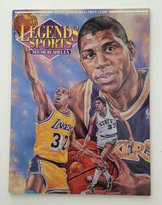 1992 legends sports memorabilia magazine- magic johnson on cover from $2.75