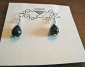Faceted Black Onyx Earrings...$12
