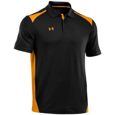 f082e7ca This lightweight mens team colorblock golf polo shirt by Under Armour  utilizes an advanced moisture transport