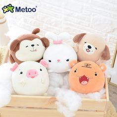Kawaii Plush Stuffed Animal Cartoon Kids Toys for Girls Children Baby Birthday Christmas Gift Rabbit Tiger Monkey Pig Metoo Doll