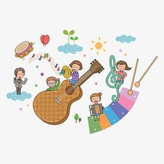Music kids PNG and Clipart Music Drawings, Art Drawings For Kids, Cartoon Faces, Cartoon Kids, Music For Kids, Art For Kids, Preschool Music Lessons, Music Clipart, Doddle Art
