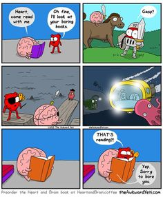 Reading in a Nutshell - Heart and Brain - The Awkward Yeti