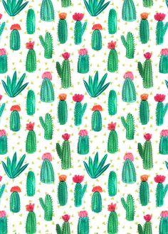 A4 Cactus diseño impresión por emilynelsonart en Etsy                                                                                                                                                      Más