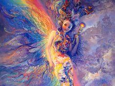 Josephine Wall - Iris - keeper of the rainbow. Tags: iris, children of the titans, Josephine Wall, Fantasy Kunst, Fantasy Art, Fantasy Fairies, Iris Goddess, Aurora Goddess, Earth Goddess, Goddess Art, Art Expo