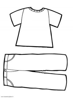 Afbeeldingsresultaat voor kleurplaat kleding