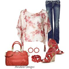 A fashion look from January 2013 featuring Silver Jeans Co. jeans, River Island sandals and Coach handbags. Browse and shop related looks.