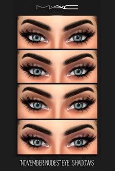 MAC cosimetics: November Nudes Eyeshadows • Sims 4 Downloads