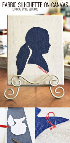 DIY Recycled denim crafts - silhouette Michaels Makers