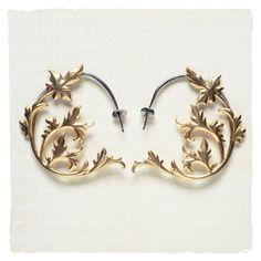Labyrinth Earrings. 1.75''w x 2'' l.