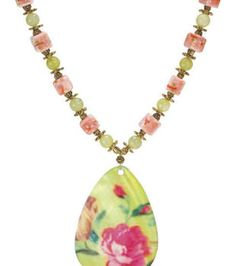 Ornate Shell Drop Necklace