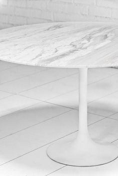 Round Imported Marble Tulip Dining Table