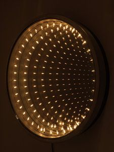 1970s RARE FANTASTIC CURTIS JERE INFINITY MIRROR