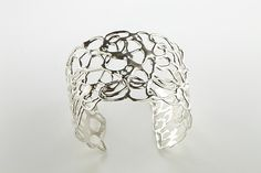 Lace Cuff by Ann Chikahisa: Silver Bracelet available at www.artfulhome.com