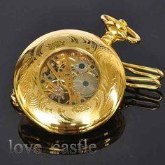 rbo1 relógio de bolso folh ouro func corda máquina aparente