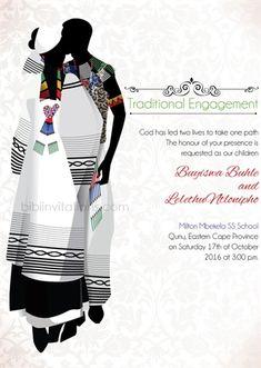Bathandwa African Traditional Engagement Card Box Wedding Invitations, Traditional Wedding Invitations, Engagement Invitations, Diy Invitations, Invite, Invitation Ideas, Invitation Cards, Zulu Wedding, Igbo Wedding