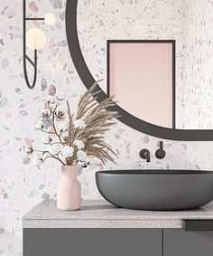 Simple Bathroom Designs, Bathroom Tile Designs, Bathroom Interior Design, Terrazzo, Kitchen Work Tables, Washbasin Design, Bathroom Kids, Bathroom Inspo, Bathrooms