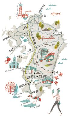 Masako Kubo via Illustrators and Visual Storytellers Map the World | Brain Pickings