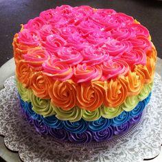 Rainbow cake #destinydawnsdesserts Rainbow Parties, Unicorn, A Unicorn, Unicorns