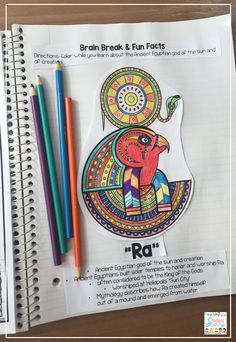 Ancient Egypt - Ra Egyptian God - Interactive Notebook