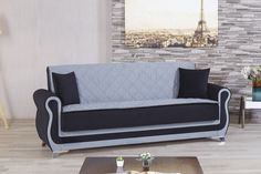 """Since a futon is essentially a bendable mattress, this could make your space """"look cheap"""" since futons are typically associated with a tighter budget"""