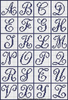 Free Easy Cross, Pattern Maker, PCStitch Charts + Free Historic Old Pattern Book. - Free Easy Cross, Pattern Maker, PCStitch Charts + Free Historic Old Pattern Books: Sajou No 655 - Crochet Alphabet, Crochet Letters, Cross Stitch Alphabet Patterns, Cross Stitch Letters, Cross Patterns, Cross Stitch Charts, Cross Stitch Designs, Beading Patterns, Embroidery Patterns