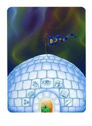 Oracle, Snowland Tarot's version of the High Priestess card (Art by Ron Boyer) http://SnowlandTarot.com