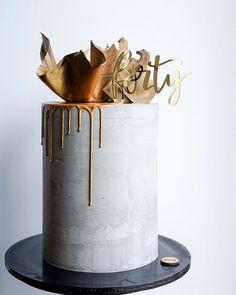 Concrete Buttercream Cakes Melbourne — Don't Tell Charles Elegant Birthday Cakes, Birthday Cakes For Men, Beautiful Birthday Cakes, Masculine Cake, Concrete Cake, 40th Cake, Gateaux Cake, Classic Cake, Birthday Cake Decorating