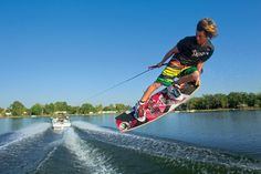 Learn new wakeboarding style tricks for the Masters Water Ski & Wakeboard Tournament on Robin Lake at Callaway Gardens.