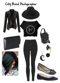 """""""City Band Photographer"""" by seana-routzahn on Polyvore featuring Miss Selfridge, Topshop, Chloé, G.H. Bass & Co., Jewel Exclusive, Kate Spade, Belarno, women's clothing, women and female"""
