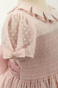 white Sheer baby dress vintage double skirt dressy baby girl French 2