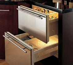 Sub Zero fridge drawers lovely appliances for the home Grey Kitchen Cabinets, Kitchen Appliances, Sub Zero Fridge, Fridge Drawers, Under Counter Fridge, Kitchen Organisation, Refrigerator Freezer, Home Kitchens, Kitchen Remodel