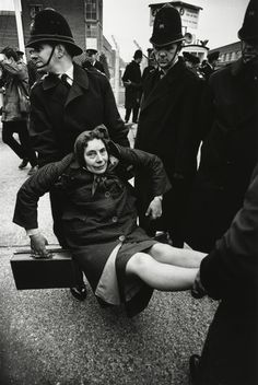 Anti-nuclear weapons demonstration. Aldermaston, UK. ca 1960s by Don McCullin.