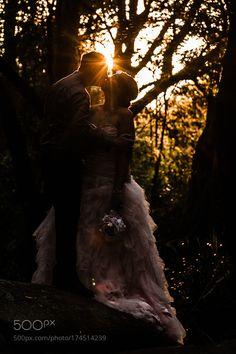 Sunset Silhouette Wedding by JasonMckeown