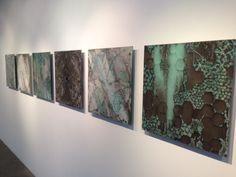 FOLDING   FAULTING 2014, Carmen Vetter Exhibition. Kiln-cast glass.