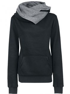 Women's Loose Leisure Hoodie Black on DressLuck.com