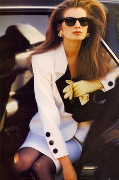Cordula Reyer photographed by Neil Kirk for US Vogue, 1989