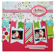 Holidazzle Holiday Traditions Scrapbook Page Layout Idea from Creative Memories