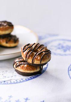 Samoa donuts. #Girl_Scouts #food #doughnuts #donuts #desserts
