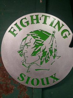 UND Fighting Sioux Aluminum Sign - no lights - accent color