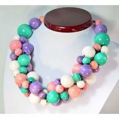 Korale drewniane zwarte KREM PASTELOWY Raj, Pearl Necklace, Beaded Necklace, Pearls, House, Jewelry, String Of Pearls, Beaded Collar, Jewlery