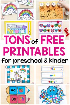 Free Printable Learning Activities for Kids - Hundreds of free printables for kids. These fun learning printables include games and activities th - Kindergarten Learning, Preschool Learning Activities, Free Preschool, Fun Learning, Toddler Activities, Preschool Classroom, Kindergarten Curriculum Map, Child Development Activities, Rhyming Activities