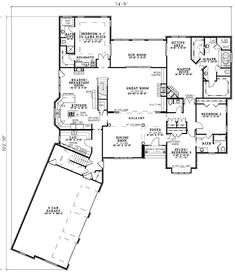 European, Southern Plan No: W59806ND Total Living Area: 4,300 sq. ft. Attached Garage: 3 Car,  Bedrooms: 4 Full Bathrooms: 4 Half Bathrooms: 1 Bonus Room, In-Law Suite