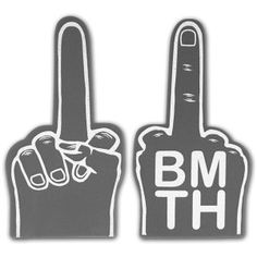 BMTH Foam Middle Finger $20.00 Band Quotes, Bmth, Finger, Middle, Peace, Bring Me The Horizon, Fingers, Sobriety, World