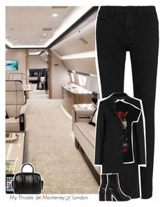 """Celebrity Life: My Private Jet: Monterrey ✈️ London"" by jhessicakauana ❤ liked on Polyvore featuring Frame, Givenchy and Off-White"