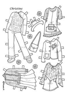 Karen`s Paper Dolls: Christine