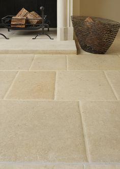 A traditional english limestone with pillowed edges - this stone is shown in flagstone sizes Flagstone Flooring, Limestone Flooring, Kitchen Pantry Design, Kitchen Ideas, Portland Stone, Stone Bathroom, English Kitchens, Wood Vinyl, Green Kitchen