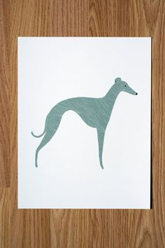 Whippet Illustration by Gingiber on Etsy